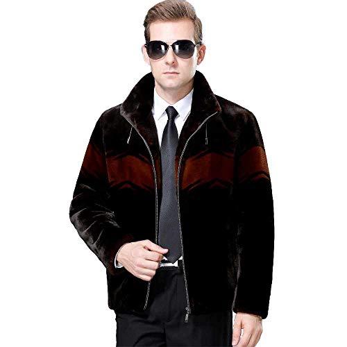 CRWOOL Abrigo de Hombres Invierno Elegantes Slim Chaqueta Pullover Outwear Parka para Viajar, Esquiar y Caminar en Otoño e Invierno(crct143),Black,175