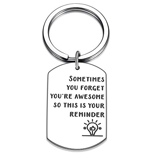 Inspirational Gifts for Women, Sometimes You Forget You're Awesome So This is Your Reminder Keychain, Birthday Gifts for Women, Best Friend, Daughter, Mom, Coworker