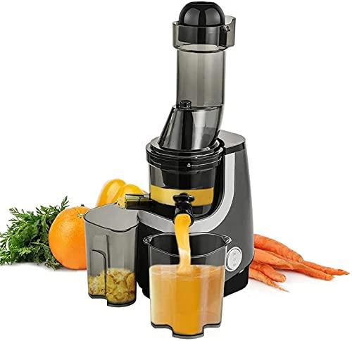 Juicer Machine, Slow Masticating Juicer, Wide-Groove Slow Kauwen Juicer voor voedzaam fruit- en groentesap Koudgeperste Juicer ?BPA-vrij, gemakkelijk schoon te maken