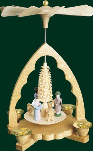 Weihnachtspyramide Erzgebirge Richard Glässer Seiffen Christi Geburt, 16330