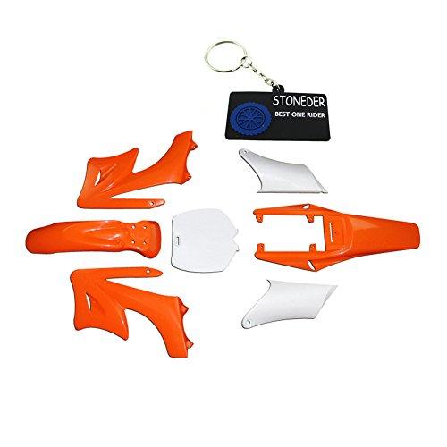 STONEDER naranja 7 piezas de plástico de alta resistencia Fender carenado Cuerpo kits para chino 2 tiempos 47cc 49cc Apollo Orion Mini Dirt Bike