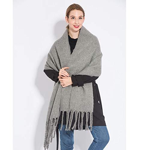 Z-Color 2020 Cashmere Plaid Plaid Bufanda de Invierno Cálido Mantón y Envoltura Pashmina Pashmina Larga Tassel Mujer Tweed Manta Gruesa (Color : 19)