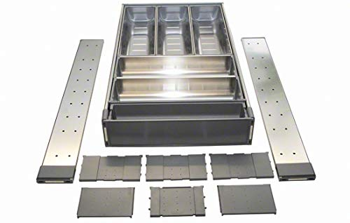 """Blum Orgaline For Wood Drawers With Lengths 19 1/4"""" To 20"""" Cutlery Kit 18 3/4"""" To 19 1/2"""" W Stainless Steel"""