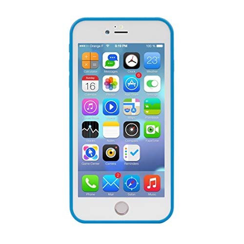 BUVYphonecase Caja del teléfono móvil for el iPhone 8 Funda Protectora del PC Plus y Plus 7 Tridimensional del Modelo del Diamante TPU Vida Impermeable + (Negro) (Color : Blue)