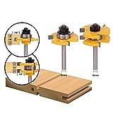 Fresa Scanalatura Set 6mm - APLUS 2pcs Set di Linguette e Scanalature, 3 Denti a Forma T P...