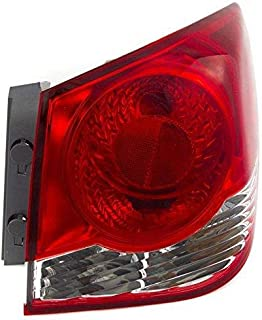 Go-Parts - OE Replacement for 2016 Chevrolet (Chevy) Cruze Limited Tail Light Rear Lamp Assembly Replacement - Right (Passenger) (CAPA Certified) GM2805107C Replacement For Chevrolet Cruze Limited