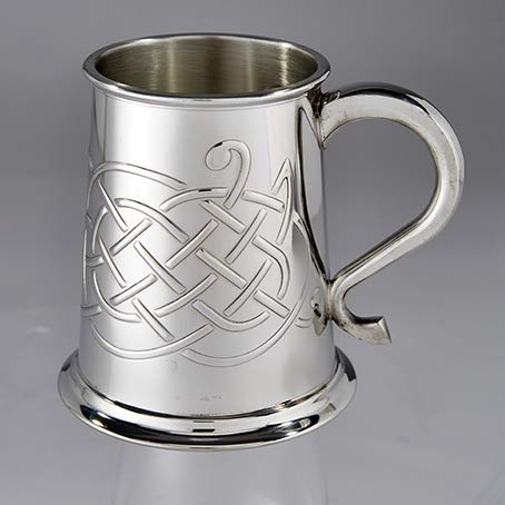 Wentworth Pewter Jura Celtic Knot Design 1 Pint Pewter Tankard