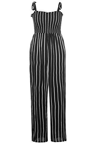 Ulla Popken Damen große Größen Jumpsuit schwarz 46+ 791112130-46+