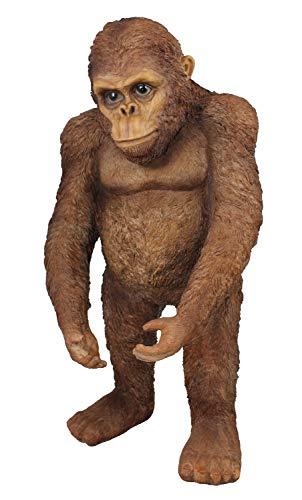 colourliving AFFE Figur Garten Schimpanse 50 cm Groß Gorilla Figur Hektor Gartenfigur Silberrücken wetterfest und handbemalt