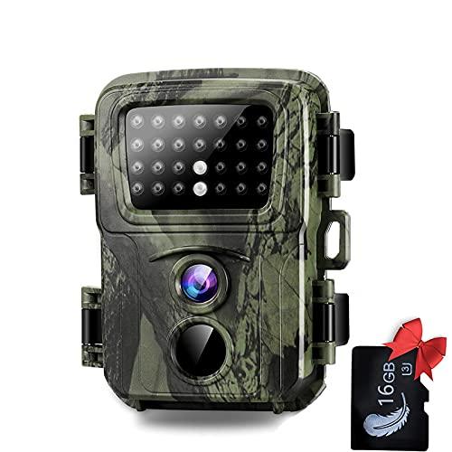 SUNTEKCAM Mini Camara de Caza 20MP Fototrampeo 1080P Full HD con Detector de Movimiento Nocturna Infrared Camara Impermeable para Animales Salvajes para Seguridad en el Hogar Monitoreo