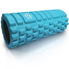 12.75 inches x 5.25 inch diameter , lightweight yet rugged solid core EVA massage roller with triple grid 3D massage zones mimics the finger , palm , and thumb of a therapist's hands . Travel friendly at just 1 lb. . Medium density muscle roller is c...