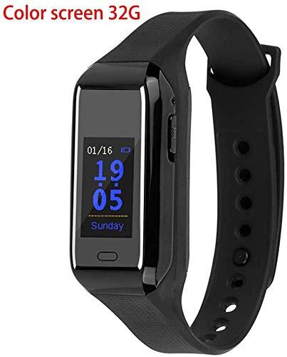 YXZQ Intelligent Recording Professional, Farbdisplay-Armband, M76-Uhr, Miniatur-Rauschunterdrückungs-Remote-Digitalaufzeichnungsband kann die Zeit anzeigen