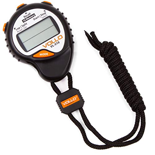 Vollo Sports Cronometro com 10 Memorias, Preto