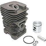 Kit pistón de cilindro Nikasil41mm Para Motosierra McCulloch CS42S CS330 CS360 CS360T CS370 CS400 CS400T CS420T Mac7-38 Mac7-40 Mac7-42 Mac8-38 Mac8-42 Mac738 Mac740 Mac742 Mac838 Mac842 Mac3516