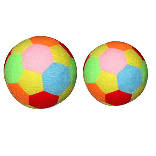 Sharplace Giocattoli per Bambini da Esterno con Pallone da Calcio All'aperto da Calcio Colorato da 2 Pezzi