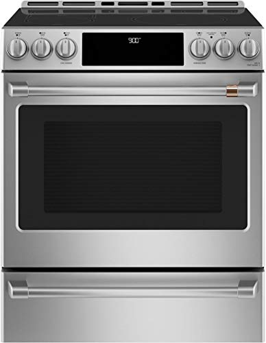 Ge Cafe CHS900P2MS1 30 Inch Induction Slide-in Electric Range in Stainless Steel