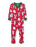 Hatley Organic Cotton Footed Sleepsuit Mamelucos para bebés y niños pequeños, Yuletide Yetis, 6-9 Meses