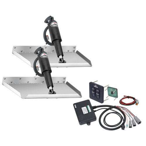 Best Review Of Lenco 12 x 12 Edgemount Trim Tab Kit w/Standard Tactile Switch Kit 12V