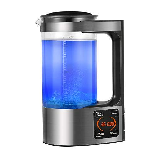 4YANG generador de Agua de hidrógeno microelectrólisis máquina de electrólisis de Agua portátil Taza de termostato de 2 l con termostato táctil Digital LED, Adecuado para el hogar y los Negoci
