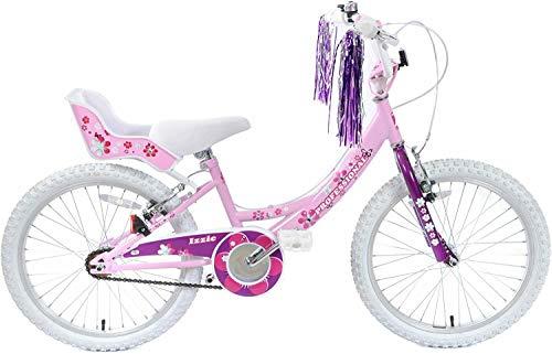 Professional Izzie 20' Wheel Girls Bike Pretty Pink & White Single Speed Dolly Seat & Tassels