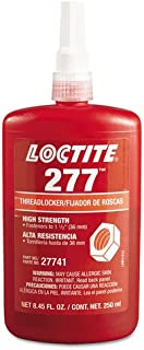 Loctite 27741 Red 277 Large Bolt High Strength Threadlocker, 250 mL Bottle