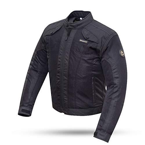 DEGEND 4 CITY Negra | Chaqueta Moto Hombre con Protecciones - Chaqueta Impermeable Transpirable con Ventilación - Ropa de Motociclista - Chaqueta Motera Hombre - Color Negro - Tallas (S-6XL)