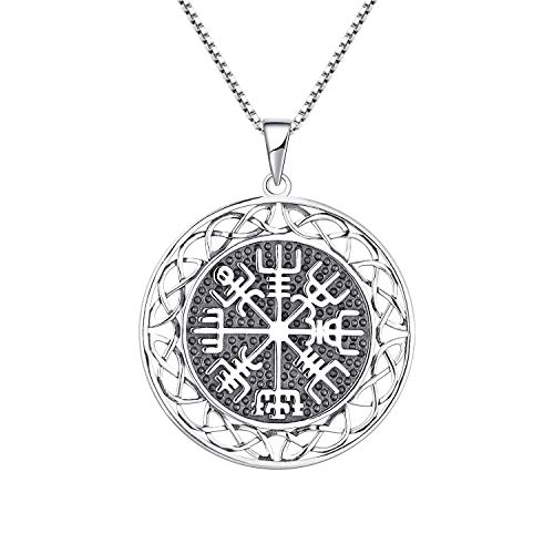 JO WISDOM Vegvisir Colgante Vikingos Amuletos Collar Plata 925