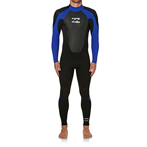 Billabong heren Intruder 5/4/3mm GBS wetsuit met Back Zip Zwart Blauw - Fantastisch instappak voor alle watersporten