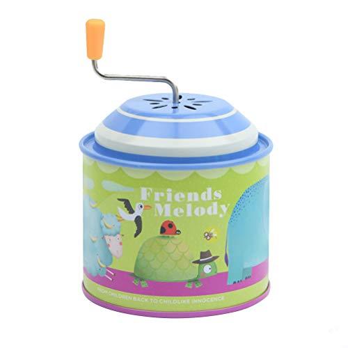 Toyvian Carillon a Manovella in Acciaio Inossidabile con Manico in Miniatura Fatto a Mano per Regalo Bambini