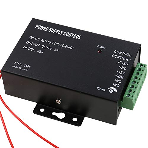 UHPPOTE 110-240VAC to 12VDC Power Supply Controller Built-in Buzzer for Access Control System & Intercom Camera