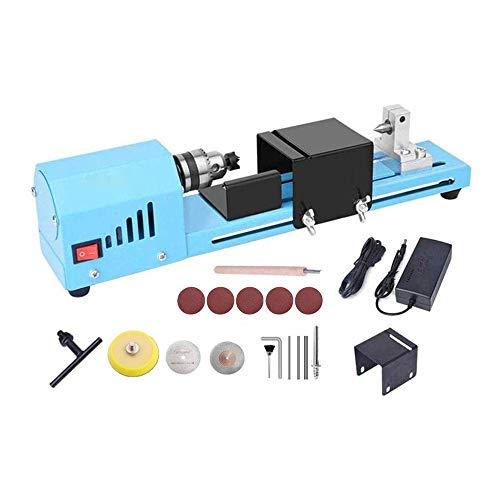InLoveArts Mini Drehmaschine Perlen Polierer Maschine DIY Holzbearbeitungsdrehmaschine Schleifen Polierperlen Bohrwerkzeugsatz bohren