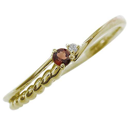 [プレジュール]ガーネット リング 華奢 シルバー アクセサリー レディース 誕生石 指輪 ピンキーリング