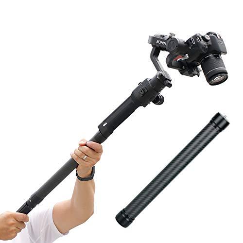 "DH10 Upgrade Gimbal Extension Pole Carbon Fiber Bar Lightweight but Strong 1/4"" Universal Rod Compatible with DJI Ronin S, Ronin SC, OSMO Mobile 3, OM 4, ZHIYUN Crane 2 V2 Stabilizer DSLR Camera"
