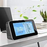 InLoveArts Monitor della qualità dell'aria, rilevatore di micro-polvere 12 in 1 misuratore di inquinamento atmosferico per interni, sensore di temperatura e umidità per CO2 PM2.5 ……