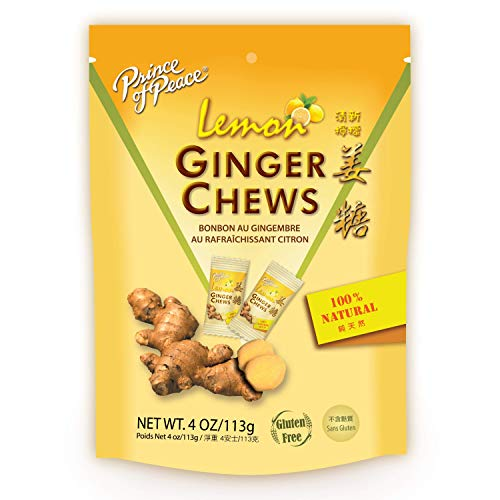 Prince of Peace Ginger Chews With Lemon, 4 oz. – Candied Ginger – Lemon Candy – Lemon Ginger Chews – Natural Candy – Ginger Candy for Nausea by Prince of Peace