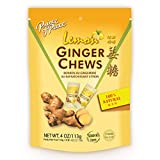 Prince of Peace Ginger Chews With Lemon, 4 oz. – Candied Ginger – Lemon Candy – Lemon Ginger Chews – Natural Candy – Ginger Candy for Nausea