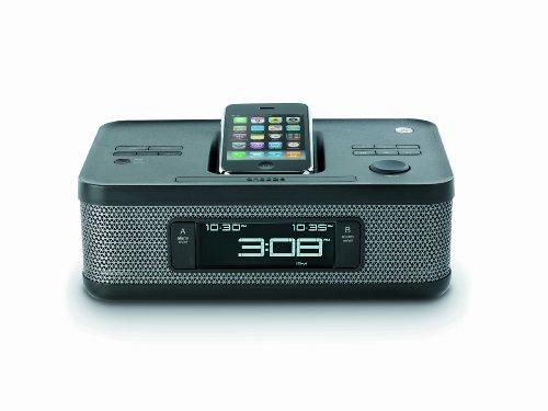 Memorex MI4703P 30-pin Dual Alarm Clock Radio for iPod and iPhone (Black)