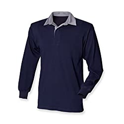 100% cotton fabric. Traditional styling with taped collar and rubber buttons Twin needle hem Elastane ribbed cuffs