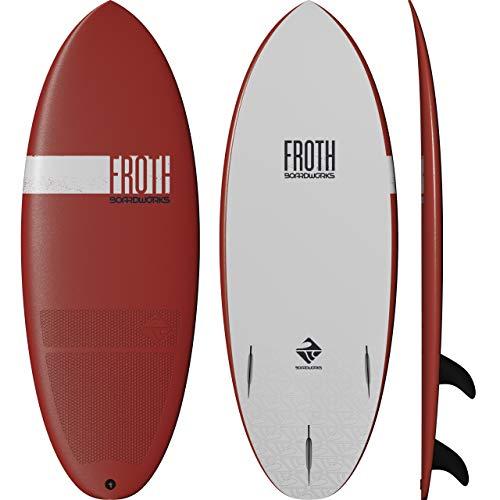Boardworks Froth! Soft Top Surfboard, Denim/Gold, 5'