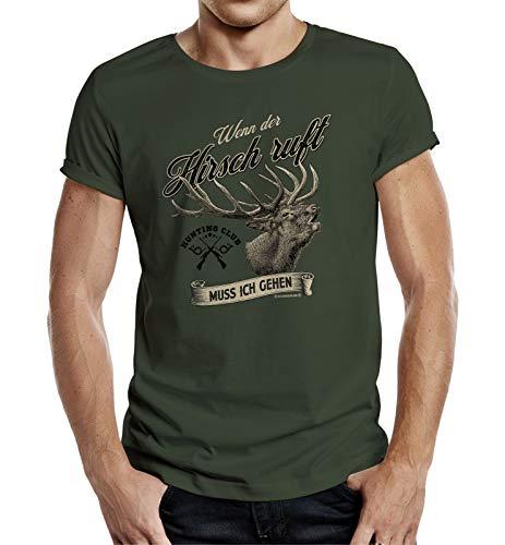 T-Shirt für Jäger - Wenn der Hirsch Ruft muss ich gehen L Nr.6389