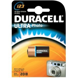 Duracell dur123106 Lithium 3 V Non-Rechargeable Battery – Non-Rechargeable, Cylindrical, 3 V, Lithium Batteries (CR123 A, 1400 mAh, 34,5 mm)