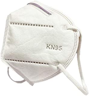 50PCS - 5 Layers Strengthened Filtration, Disposable Protective Face/Mouth Cover, Breathable Dust proof, Elastic Earloop - KN95, (50)