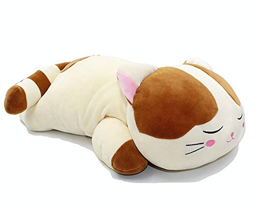 CULASIGN Schlafende Katze Dakimakura Toy Super weiches umarmendes Kissen Kuscheltiere Plüschpuppen