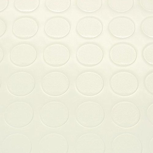 PVC Bodenbelag Noppenbelag Noppe Uni Weiss (Breite: 200 cm x Länge: 300 cm)