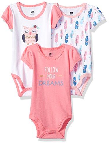 Hudson Baby Unisex Cotton Bodysuits, Boho Owl, 12-18 Months
