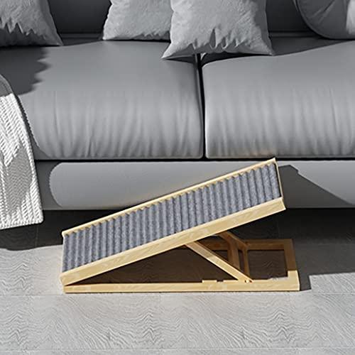 Escaleras de perro de altura duradera actualizada 2/4 Escaleras de perro de altura ajustable para camas altas Pasos para mascotas de superficie antideslizante para animales mayores | Tallas de dos tam