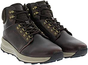 Khombu Men's Leather Memory Foam Lightweight Hiker Boot (9, Brown)