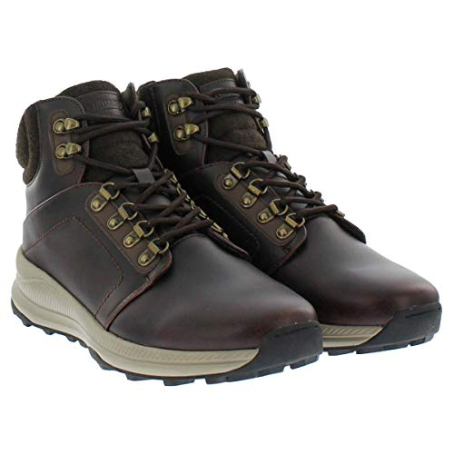 Khombu Men's Memory Foam Lightweight Hiker Boot - Brown or Grey (12, Brown)