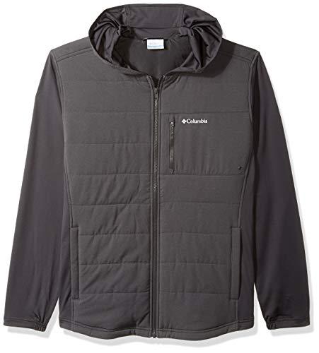 Columbia Men's Pilsner Peak Hooded Hybrid Jacket, Black/Shark, Large