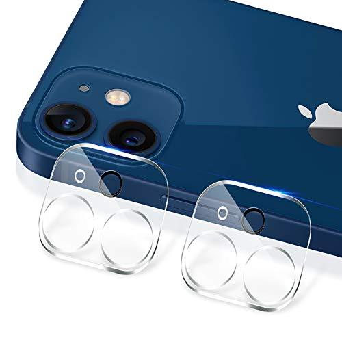 【2枚入り】iPhone12 カメラフィルム 2眼レンズ保護 カメラ保護ガラス キズ防止 旭硝子製 99%透過率 露出オ...